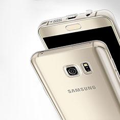 Samsung Galaxy Note 5 N9200 N920 N920F用極薄ソフトケース シリコンケース 耐衝撃 全面保護 クリア透明 T03 サムスン クリア