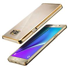 Samsung Galaxy Note 5 N9200 N920 N920F用極薄ソフトケース シリコンケース 耐衝撃 全面保護 クリア透明 T05 サムスン クリア