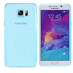 Samsung Galaxy Note 5 N9200 N920 N920F用極薄ソフトケース シリコンケース 耐衝撃 全面保護 クリア透明 T06 サムスン ネイビー
