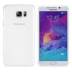 Samsung Galaxy Note 5 N9200 N920 N920F用極薄ソフトケース シリコンケース 耐衝撃 全面保護 クリア透明 T06 サムスン ホワイト