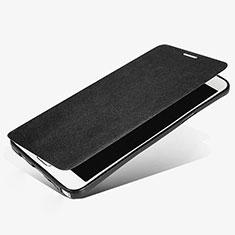Samsung Galaxy Note 5 N9200 N920 N920F用手帳型 レザーケース スタンド L02 サムスン ブラック