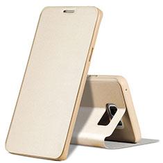 Samsung Galaxy Note 5 N9200 N920 N920F用手帳型 レザーケース スタンド L04 サムスン ゴールド