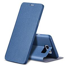 Samsung Galaxy Note 5 N9200 N920 N920F用手帳型 レザーケース スタンド L04 サムスン ネイビー