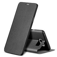 Samsung Galaxy Note 5 N9200 N920 N920F用手帳型 レザーケース スタンド L04 サムスン ブラック