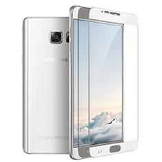 Samsung Galaxy Note 5 N9200 N920 N920F用強化ガラス フル液晶保護フィルム F03 サムスン ホワイト