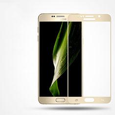 Samsung Galaxy Note 5 N9200 N920 N920F用強化ガラス フル液晶保護フィルム F02 サムスン ゴールド