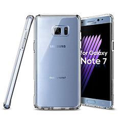 Samsung Galaxy Note 7用極薄ソフトケース シリコンケース 耐衝撃 全面保護 クリア透明 サムスン クリア