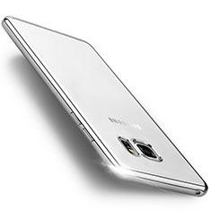 Samsung Galaxy Note 7用ハイブリットバンパーケース クリア透明 プラスチック サムスン シルバー