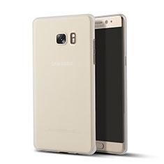 Samsung Galaxy Note 7用極薄ソフトケース シリコンケース 耐衝撃 全面保護 クリア透明 T02 サムスン クリア