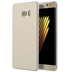 Samsung Galaxy Note 7用極薄ソフトケース シリコンケース 耐衝撃 全面保護 クリア透明 T03 サムスン クリア