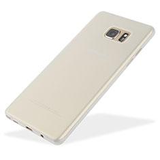 Samsung Galaxy Note 7用極薄ケース クリア透明 プラスチック T01 サムスン ホワイト