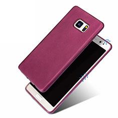 Samsung Galaxy Note 7用極薄ソフトケース シリコンケース 耐衝撃 全面保護 サムスン パープル