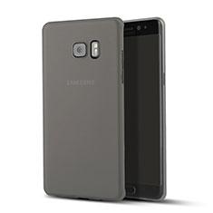 Samsung Galaxy Note 7用極薄ケース クリア透明 プラスチック サムスン ブラック