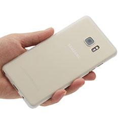 Samsung Galaxy Note 7用極薄ケース クリア透明 プラスチック サムスン ホワイト