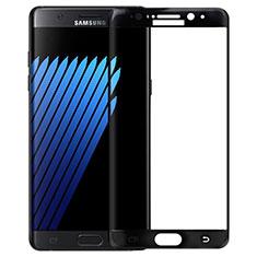 Samsung Galaxy Note 7用強化ガラス フル液晶保護フィルム F04 サムスン ブラック