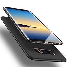Samsung Galaxy Note 8用シリコンケース ソフトタッチラバー サムスン ブラック