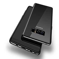 Samsung Galaxy Note 8用極薄ソフトケース シリコンケース 耐衝撃 全面保護 クリア透明 T10 サムスン ブラック