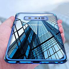 Samsung Galaxy Note 8用極薄ソフトケース シリコンケース 耐衝撃 全面保護 クリア透明 T11 サムスン ネイビー