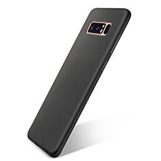 Samsung Galaxy Note 8用極薄ソフトケース シリコンケース 耐衝撃 全面保護 S05 サムスン ブラック