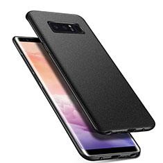 Samsung Galaxy Note 8用ハードケース プラスチック 質感もマット P01 サムスン ブラック