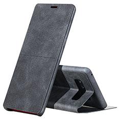 Samsung Galaxy Note 8用手帳型 レザーケース スタンド L04 サムスン ブラック