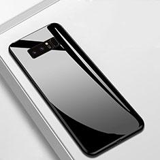 Samsung Galaxy Note 8用ハイブリットバンパーケース プラスチック 鏡面 カバー M02 サムスン ブラック
