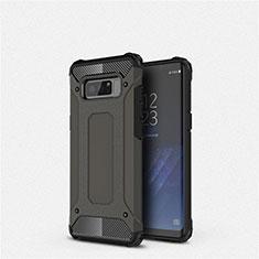 Samsung Galaxy Note 8用360度 フルカバー極薄ソフトケース シリコンケース 耐衝撃 全面保護 バンパー S02 サムスン ブラック