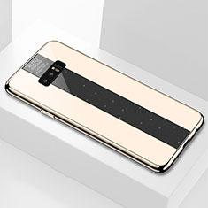 Samsung Galaxy Note 8用ハイブリットバンパーケース プラスチック 鏡面 カバー M03 サムスン ゴールド