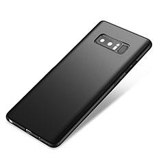 Samsung Galaxy Note 8 Duos N950F用ハードケース プラスチック 質感もマット 前面と背面 360度 フルカバー サムスン ブラック