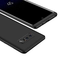 Samsung Galaxy Note 8 Duos N950F用ハードケース プラスチック 質感もマット 前面と背面 360度 フルカバー M01 サムスン ブラック