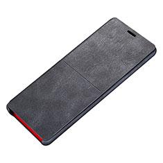 Samsung Galaxy Note 8 Duos N950F用手帳型 レザーケース スタンド カバー L02 サムスン ブラック