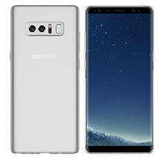 Samsung Galaxy Note 8 Duos N950F用極薄ソフトケース シリコンケース 耐衝撃 全面保護 クリア透明 H01 サムスン クリア