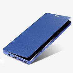 Samsung Galaxy Note 8 Duos N950F用手帳型 レザーケース スタンド L03 サムスン ネイビー