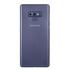 Samsung Galaxy Note 9用極薄ケース クリア透明 プラスチック 質感もマットU01 サムスン ネイビー