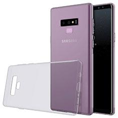Samsung Galaxy Note 9用極薄ソフトケース シリコンケース 耐衝撃 全面保護 クリア透明 T02 サムスン グレー