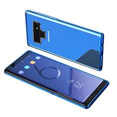 Samsung Galaxy Note 9用極薄ソフトケース シリコンケース 耐衝撃 全面保護 クリア透明 T07 サムスン ネイビー