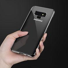 Samsung Galaxy Note 9用極薄ソフトケース シリコンケース 耐衝撃 全面保護 クリア透明 T08 サムスン ブラック