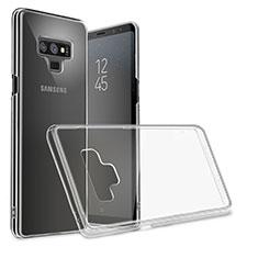 Samsung Galaxy Note 9用極薄ソフトケース シリコンケース 耐衝撃 全面保護 クリア透明 T09 サムスン ブラック