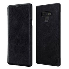 Samsung Galaxy Note 9用手帳型 レザーケース スタンド サムスン ブラック