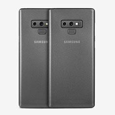 Samsung Galaxy Note 9用極薄ケース クリア透明 プラスチック T01 サムスン グレー
