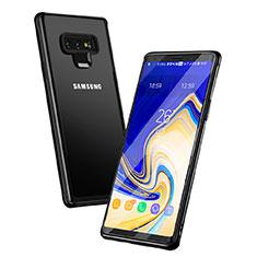 Samsung Galaxy Note 9用ハイブリットバンパーケース クリア透明 プラスチック 鏡面 サムスン ブラック