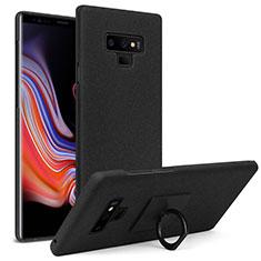 Samsung Galaxy Note 9用ハードケース カバー プラスチック アンド指輪 サムスン ブラック