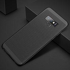 Samsung Galaxy Note 9用ハードケース プラスチック メッシュ デザイン カバー サムスン ブラック