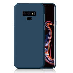 Samsung Galaxy Note 9用極薄ソフトケース シリコンケース 耐衝撃 全面保護 S01 サムスン ネイビー