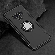 Samsung Galaxy Note 9用ハイブリットバンパーケース プラスチック アンド指輪 マグネット式 サムスン ブラック
