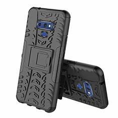Samsung Galaxy Note 9用ハイブリットバンパーケース スタンド プラスチック 兼シリコーン カバー A01 サムスン ブラック