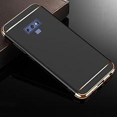 Samsung Galaxy Note 9用ケース 高級感 手触り良い メタル兼プラスチック バンパー M01 サムスン ブラック