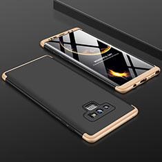Samsung Galaxy Note 9用ハードケース プラスチック 質感もマット 前面と背面 360度 フルカバー サムスン ゴールド・ブラック