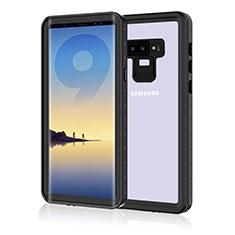 Samsung Galaxy Note 9用完全防水ケース ハイブリットバンパーカバー 高級感 手触り良い 360度 サムスン ブラック