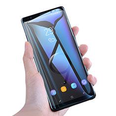 Samsung Galaxy Note 9用強化ガラス フル液晶保護フィルム アンチグレア ブルーライト F02 サムスン ホワイト